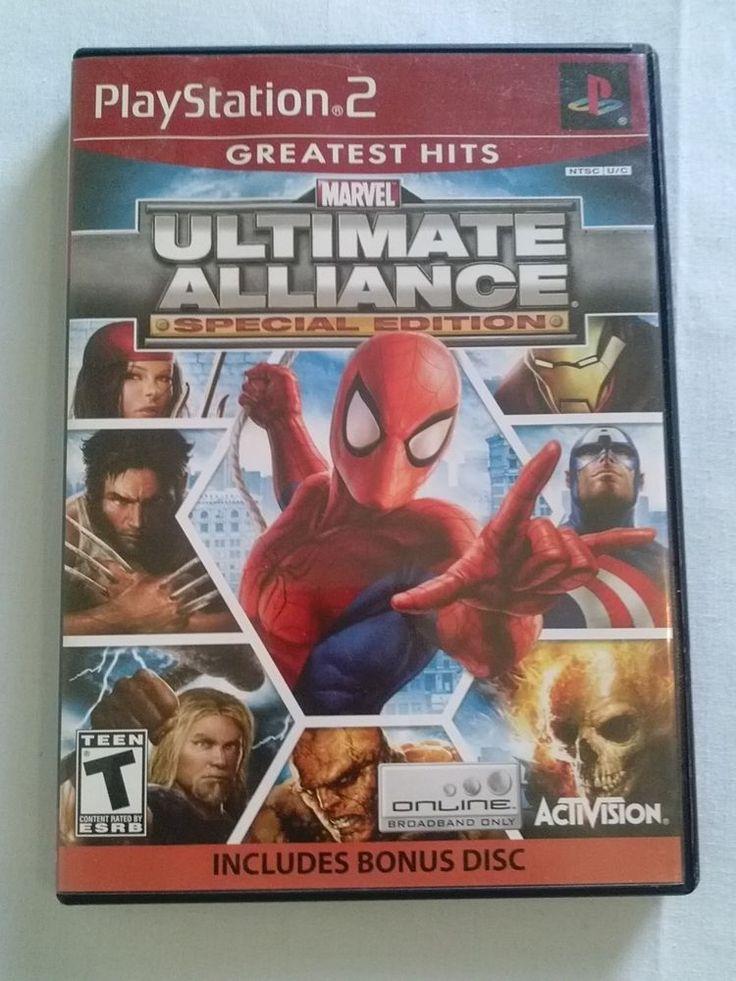 Marvel Ultimate Alliance Special Edition & Bonus Disc (Sony PlayStation 2, 2007)