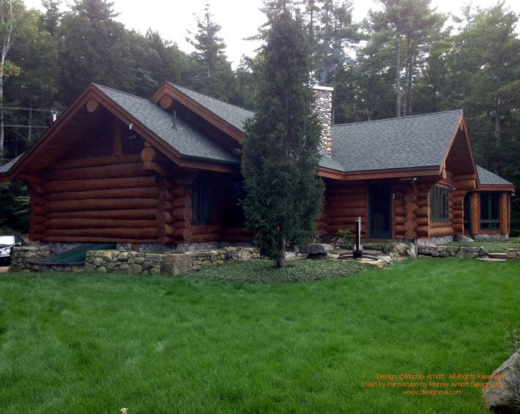 Exterior of another log home i visited recently in new for New hampshire log cabins