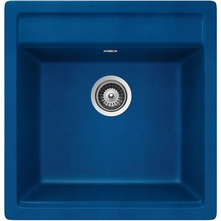 Schock Nemo N-100 S A Oceanblue Granitspüle Blau Becken Spüle Küche Einbau-Spüle: Amazon.de: Küche & Haushalt