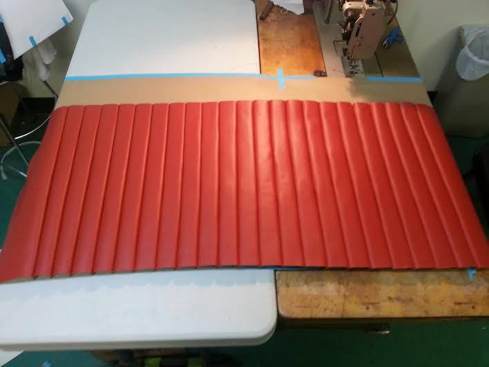 Old School Leather Roll And Pleat Style Auto Upholstery