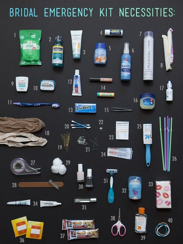Washington DC Wedding Planner, DC Event and Party Planning: 40 Must Have Bridal Emergency Kit Items