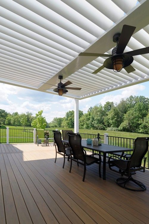 Modern equinox adjustable louvered roof by core outdoor living