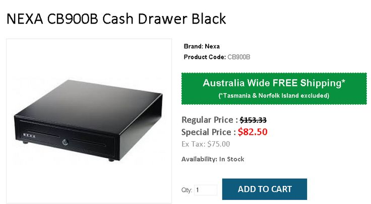 Buy Nexa Cash drawer At onlypos Australia with FREE Shipping.