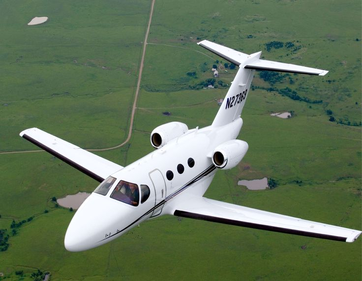 The Cessna Citation Mustang debuted in 2005 and falls into the very light jet category. The Citation Mustang allows seating for 4 passengers and 2 crew members, but is also certified to fly with only one pilot. This private jet was the first in its class to be certified for flight and also the first to be certified to fly into known icing conditions. To charter an aircraft, call one of our helpful associates at (888) 594-7141.