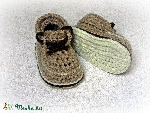"""""""Arlen"""" horgolt baby cipőcske (avonlea0) - Meska.hu"""