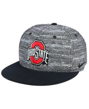 Nike Ohio State Buckeyes Col True Heathered Snapback Cap - Black Adjustable