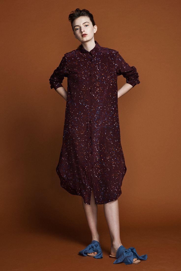 Ranger Shirt Dress - Supernova Print in silk