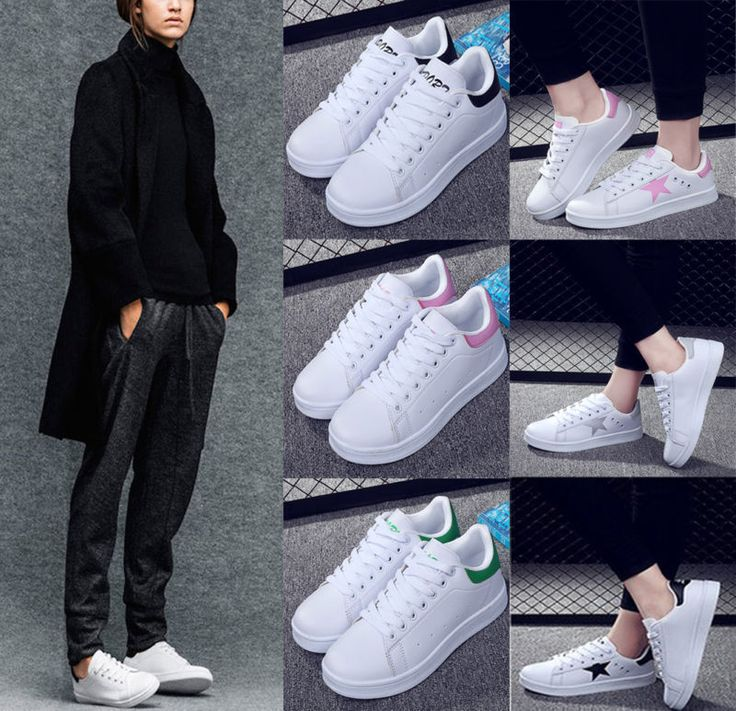 Fashion Women Ladies Casual Lace Up Sneakers Sport Running bootsTrainers  Shoes