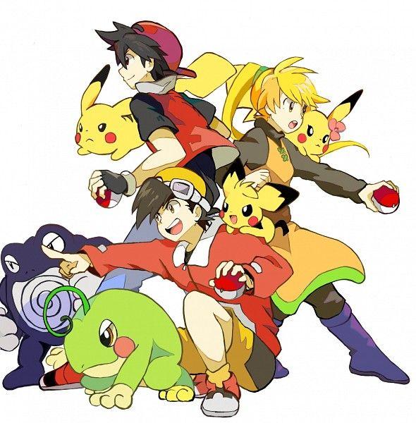 Pokemon Trainers Red, Yellow and Gold  Pokemon Adventures/ Pokemon Special Manga