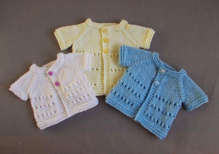 marianna's lazy daisy days: Little Jay ~ Premature Baby Cardigan Jacket