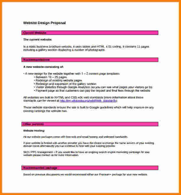 40 Web Design Proposal Template In 2020 Web Design Proposal