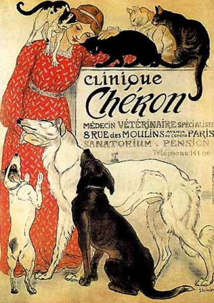 Clinique Cheron by Theophile Steinlen (1905)