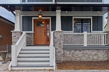 Contemporary craftsman porch outdoor pinterest for Bungalow porch columns