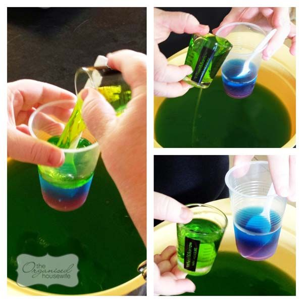 How to make rainbow jelly cups
