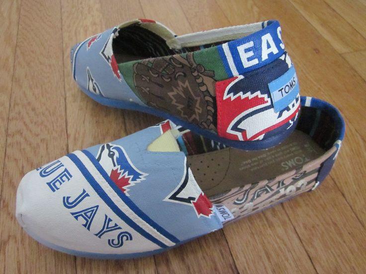 Toronto Blue Jays hand painted custom TOMS shoes