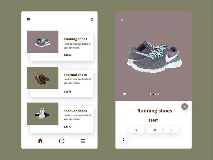 Ecommerce shoe app