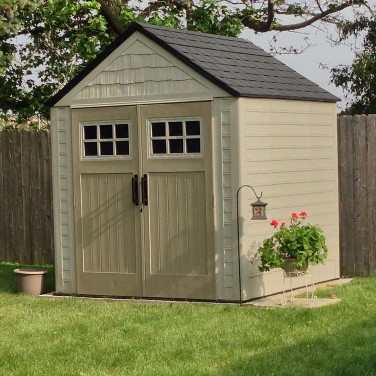 Rubbermaid big max storage shed 7x7 gardening for Garden shed 7x7