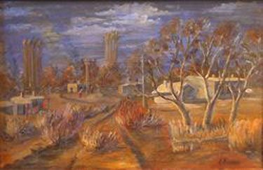 Autumn in Shakhaman. Amangeldy Utegenov (1951- He is a self-taught artist without a special artistic education, but with original brushwork and natural talent. Savitskiy and his museum promoted the development of his talent. Now the museum possesses dozens of his paintings. Utegonov's landscapes are amazingly beautiful with their brown and golden colour range combined with acute impression of nature and simplicity and logic clearness of its conveyance. His emotional perception of nature…