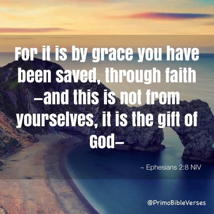 For it is by grace you have been saved, through faith—and this is not from yourselves, it is the gift of God— not by works, so that no one can boast. ~ Ephesians 2:8-9 NIV