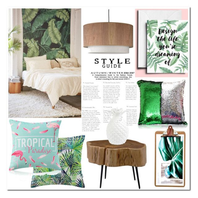 """""""Tropical Home"""" by homelava ❤ liked on Polyvore featuring interior, interiors, interior design, home, home decor, interior decorating, Assembly Home, Moe's Home Collection and Lights Up!"""