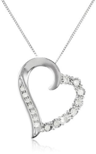 84 best necklaces pendants images on pinterest jewelry necklaces white gold round shaped diamond heart pendant necklace cttw i j color clarity 18 aloadofball Choice Image