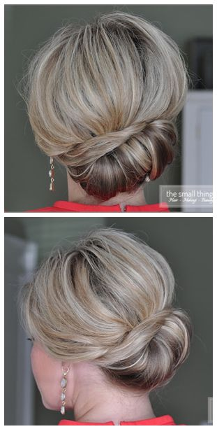 Sideways French Twist by The Small Things Blog