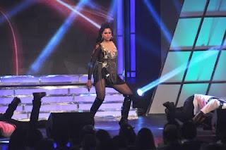 Sameera Reddy Dance Performance at Credai Real Estate Awards 2012.   Bollywood Cleavage