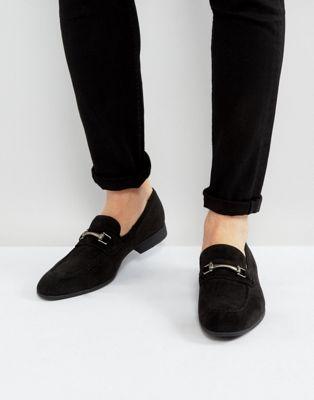 ASOS – Schwarze Wildleder-Loafer mit Trensendetail