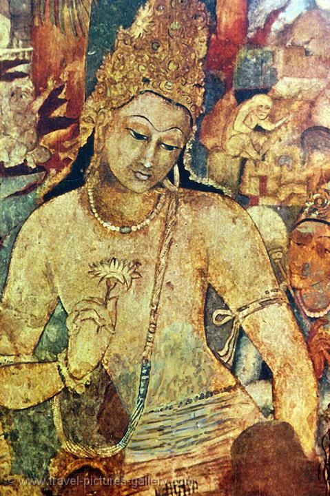 Lotus feet ajanta sarnath tibet beyond the ajanta for Ajanta mural painting