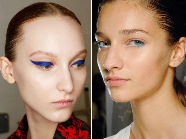 La tendenza trucco occhi della Primavera 2015 è l'azzurro