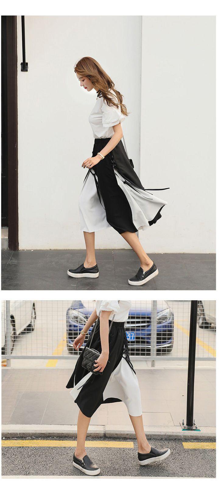 ASYMSAY 2017 Summer Street Fashion Falda de Talle Alto Mujer Cruz Spliced Vendaje Irregular Hem Una Línea de Faldas AC4060 en Faldas de Ropa y Accesorios de las mujeres en AliExpress.com | Alibaba Group