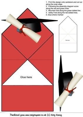 Graduation Cap And Scroll Pop Up Spring Card On