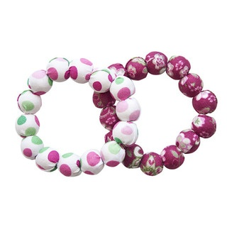 These 100% cotton covered wooden beaded bracelets are just divine and come in a range of beautiful summery spots and flowers.