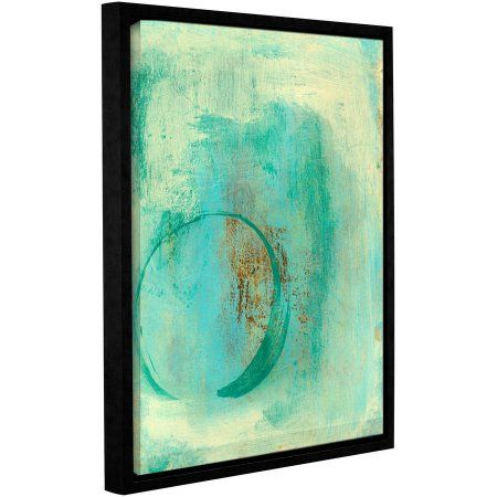 ArtWall Elena Ray Teal Enso Gallery-Wrapped Floater-Framed Canvas, Size: 18 x 24, Green