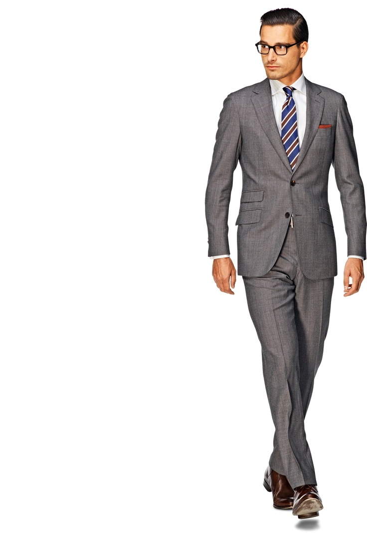 Suit Grey Plain Sienna P3486 | Suitsupply Online Store