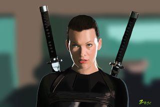 Zoge: Resident evil (Milla Jovovich ) digital drawing