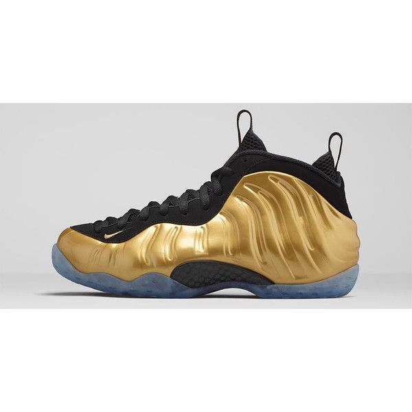 Nike Changed the 'Metallic Gold' Foamposite Release Date (Again) ❤ liked on Polyvore featuring sneakers and shoes