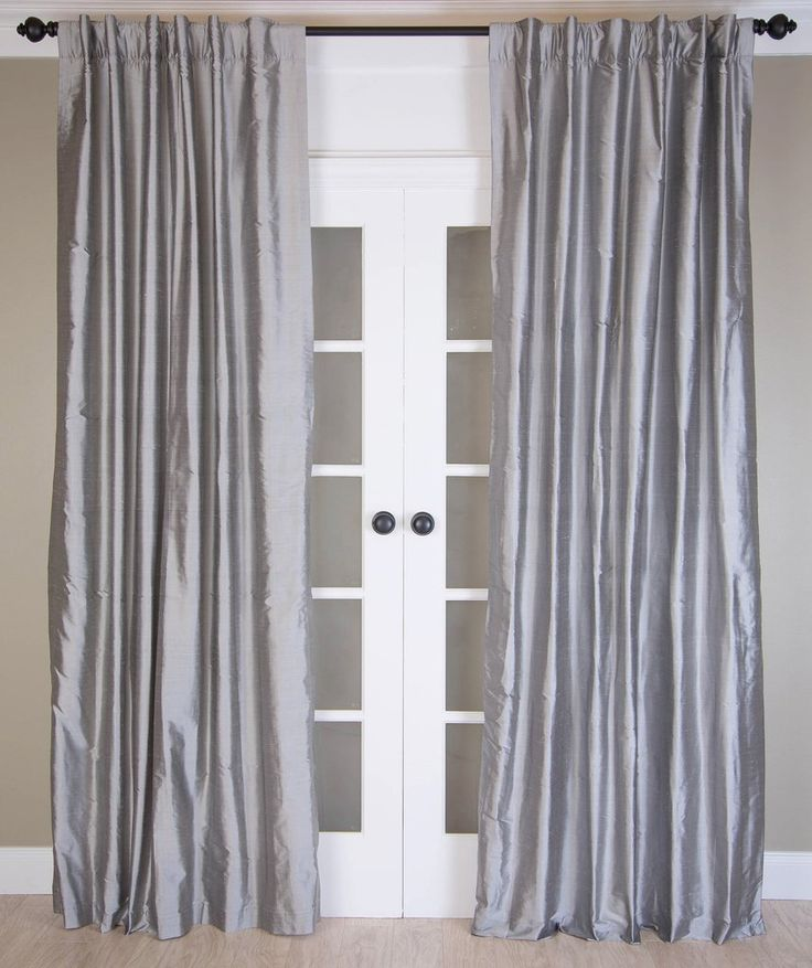 #10P3 Silver Grey SILK Curtain (Use Discount Code)