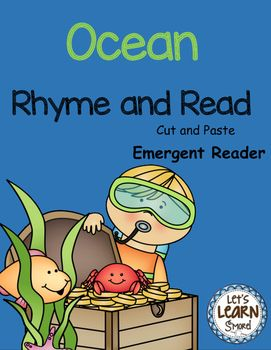 Ocean Cut and Paste Emergent Reader...Let's Learn S'more!