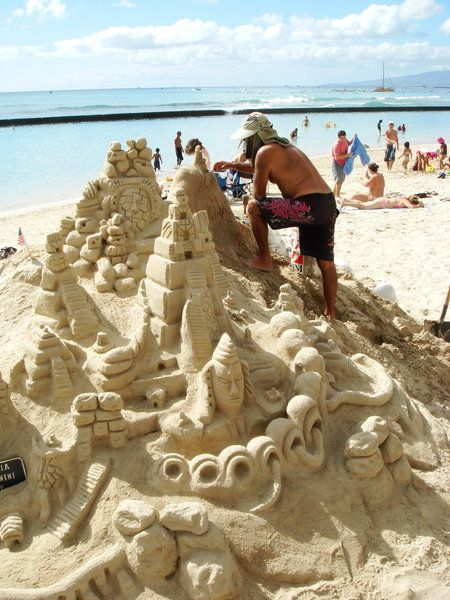 Best Sand Castles Images On Pinterest Snow Sculptures Sand - This towering sand sculpture just broke the world record for the tallest ever sandcastle