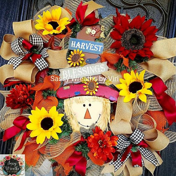Check out this item in my Etsy shop https://www.etsy.com/listing/541566627/fall-scarecrow-character-wreath