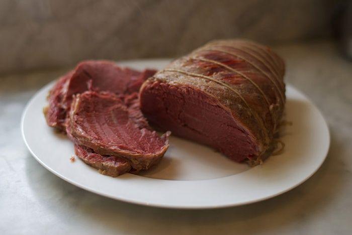 Making salt beef: Salt beef 3