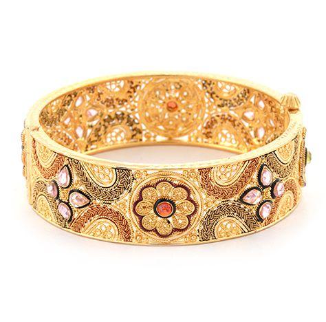 Detailed Gold Indian Bangle