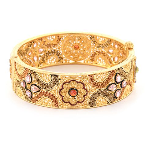 Detailed Gold Indian Bangle