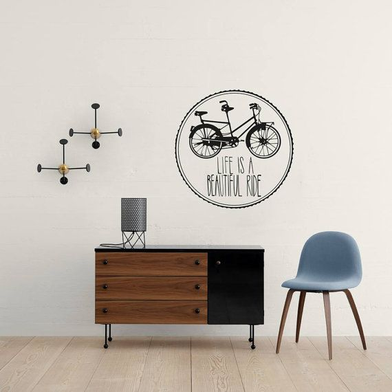 Check Out Life Is A Beautiful Ride Wall Sticker | Retro Quote | Quirky Wall  Art