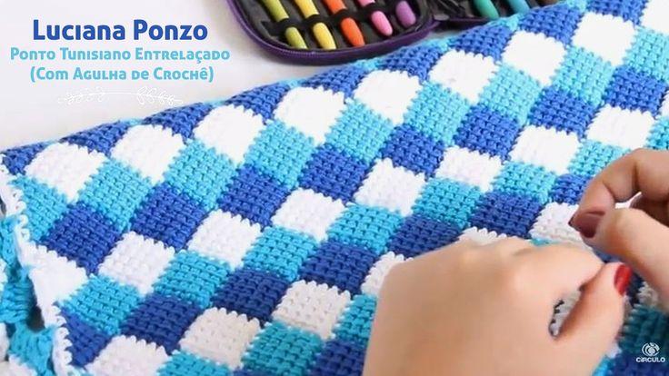 Luciana Ponzo - Ponto Tunisiano Entrelaçado (Com Agulha de Crochê)