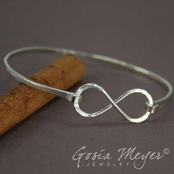 Sterling Silver Infinity Bracelet, Bangle