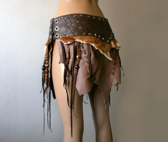 Dream Warriors brown leather skirt / loincloth por DreamWarriors