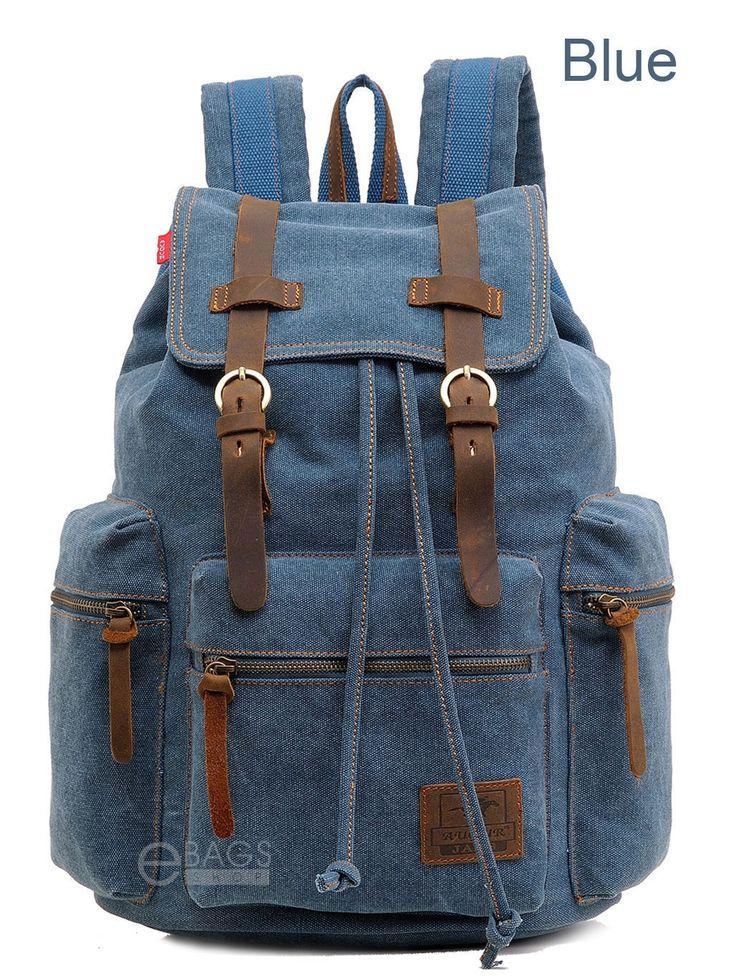 Travel Canvas Backpack Sport Rucksack Camping School Satchel Laptop Hiking Bag | eBay