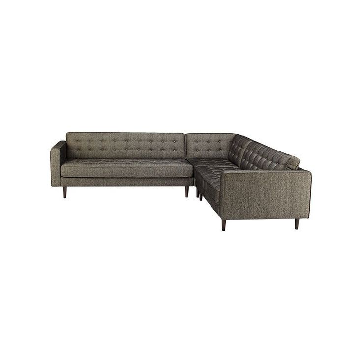 Mid century modern sectional - furniture stores seattle - dania